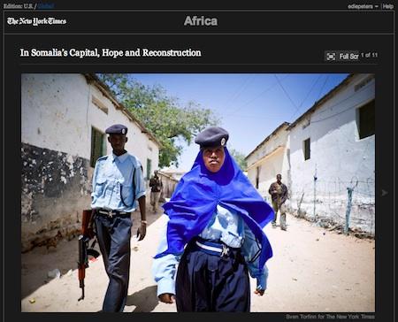 Sven Torfinn treft een rustig Mogadishu