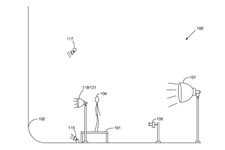 Studio-opstelling uit patent - Amazon