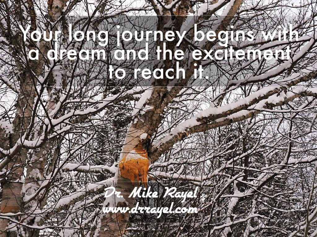 Long journey  for life and inspirational quotes