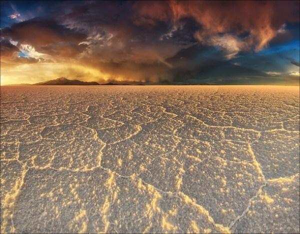 Emerging storm clouds over Salar de Uyuni the worlds ...