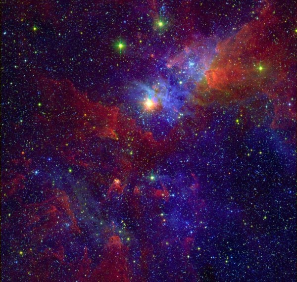 Eta Carinae and part of the Carina Nebula composite image