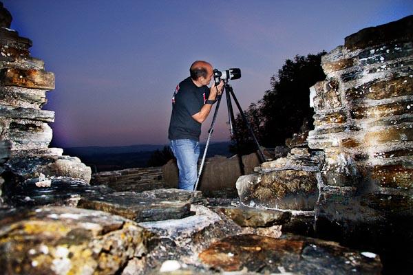 Graham shooting the sunset...