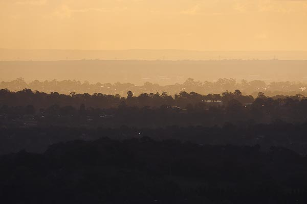 Some of the suburbs of Melbourne in the distance. Taken on the 400mm lens. On my camera body, this lens becomes a 640mm lens :-)