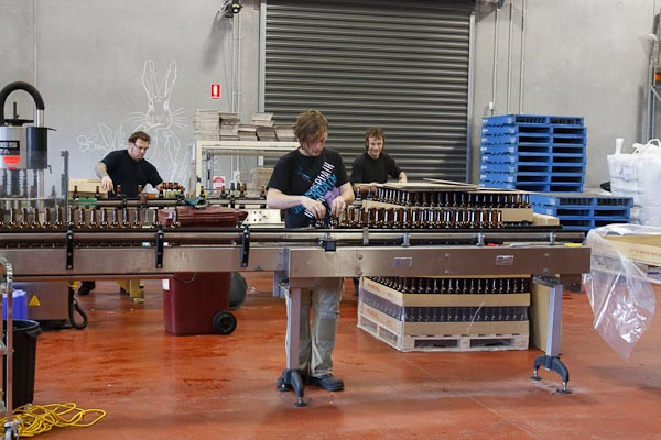 The bottling of the beer...