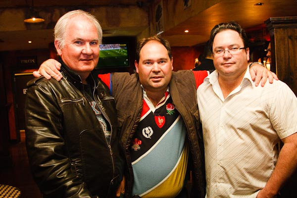 Barry, me and Kyle in the JP O'Brian pub...