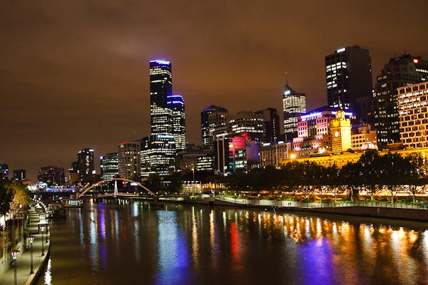 Melbourne at night...