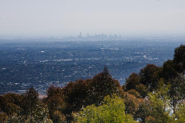 Melbourne city centre in the distance...