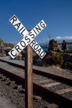 Oregon Coast Railroad Crossing