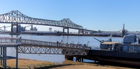 USS KIDD at Louisiana Memorial Plaza