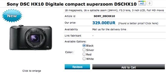 Sony DSC HX10