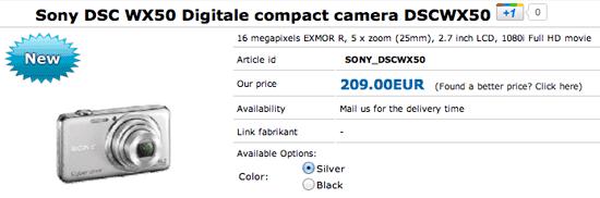 Sony DSC WX50