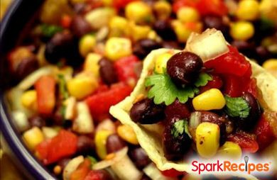 15 Minute Black Bean and Corn Salsa