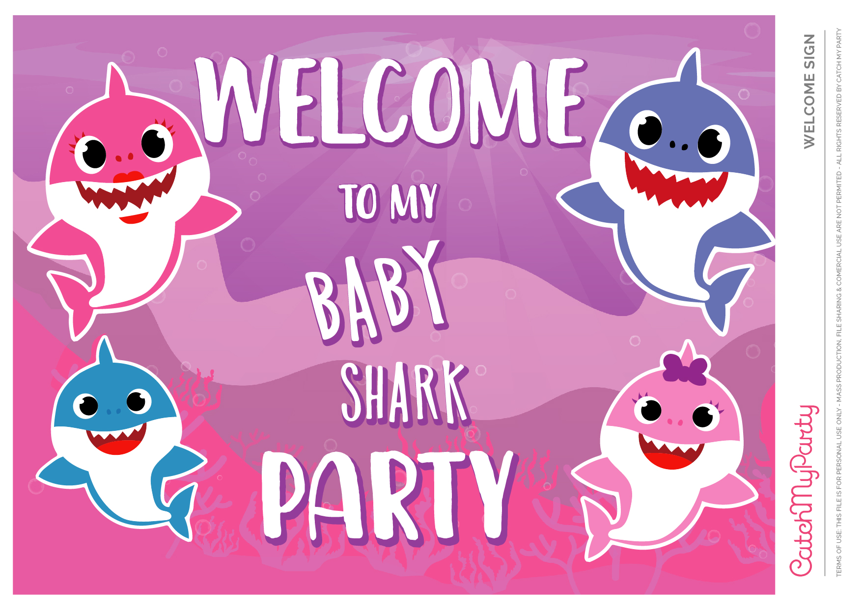 Download These Free Baby Shark Party Printables