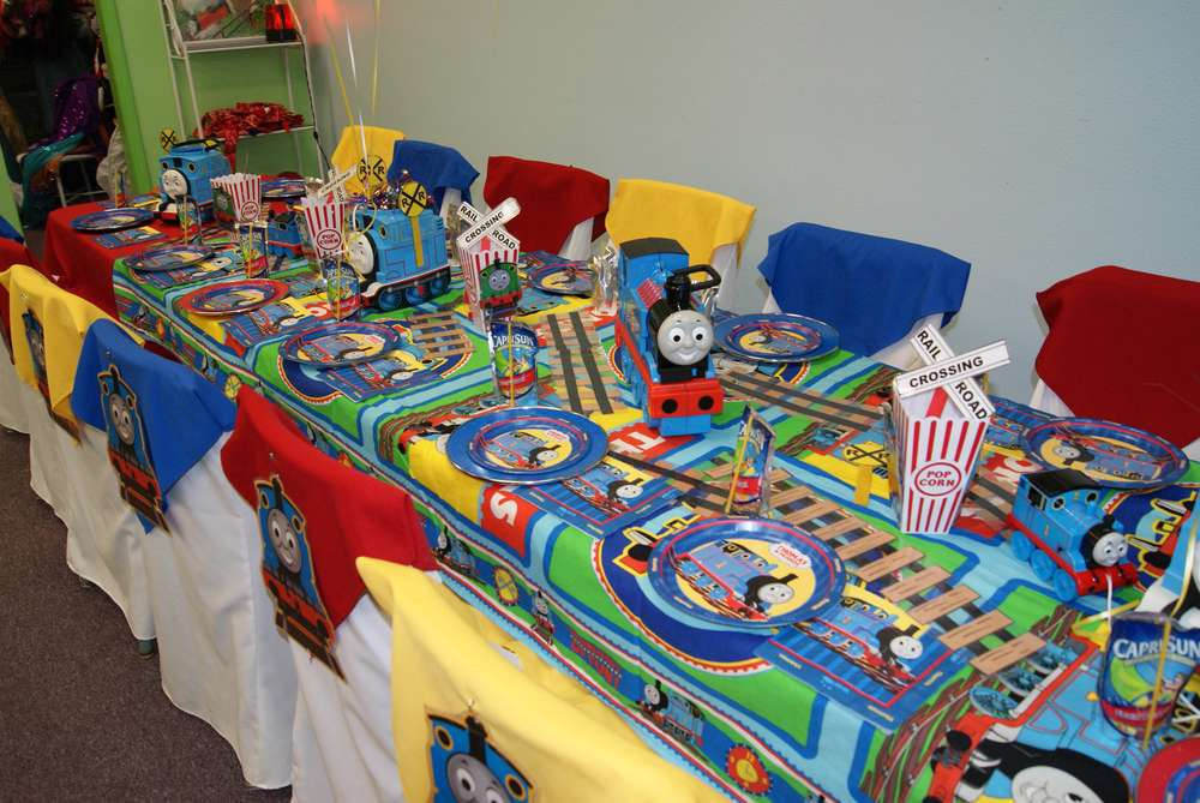 thomas the train party birthday party