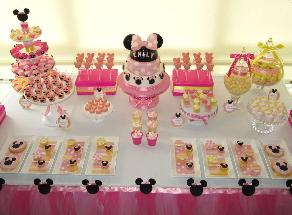 Minnie Mouse Birthday Party Ideas Photo 3 Of 15 Catch