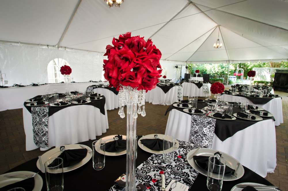 Red Black And White Party Decorations Novocom Top