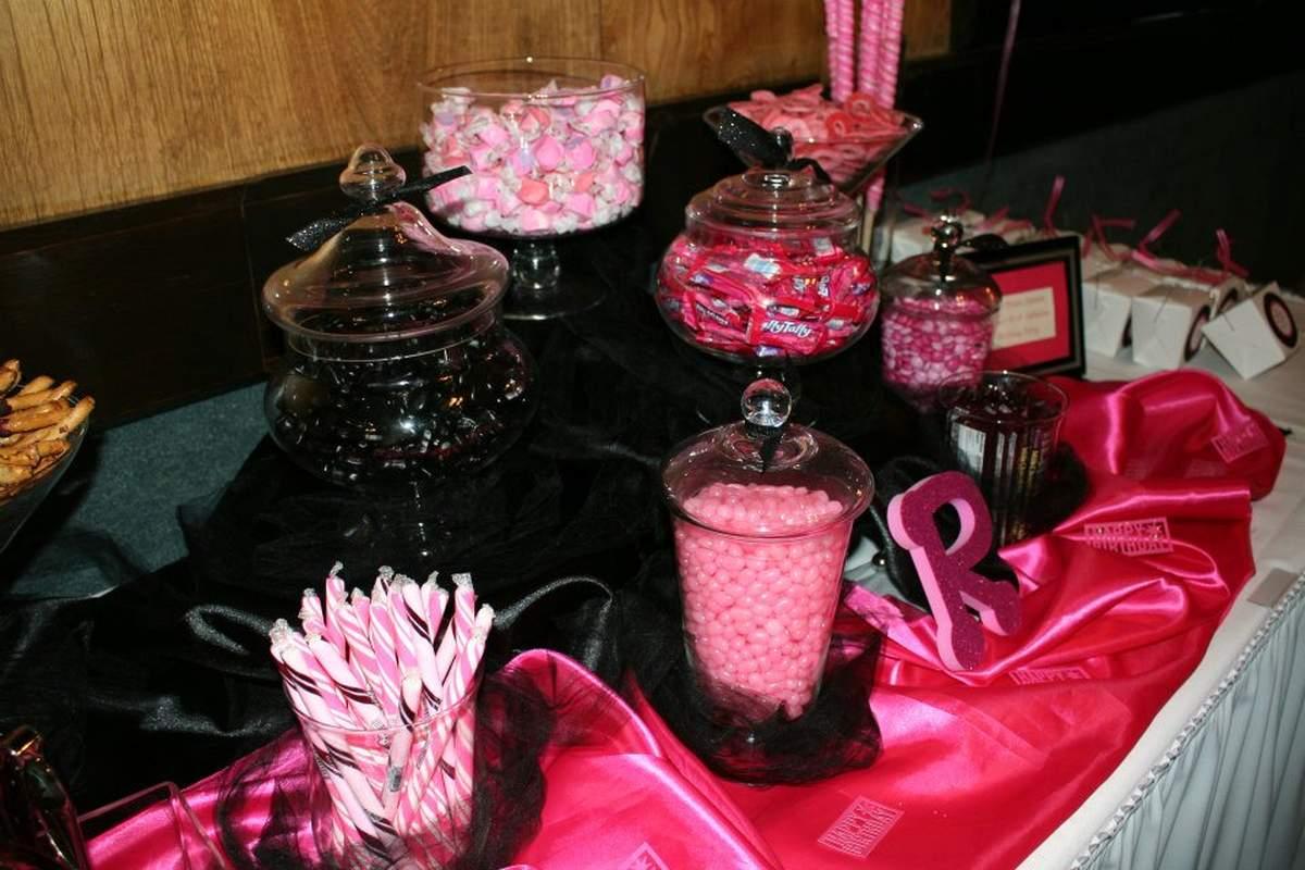 Pink & Black Birthday Birthday Party Ideas