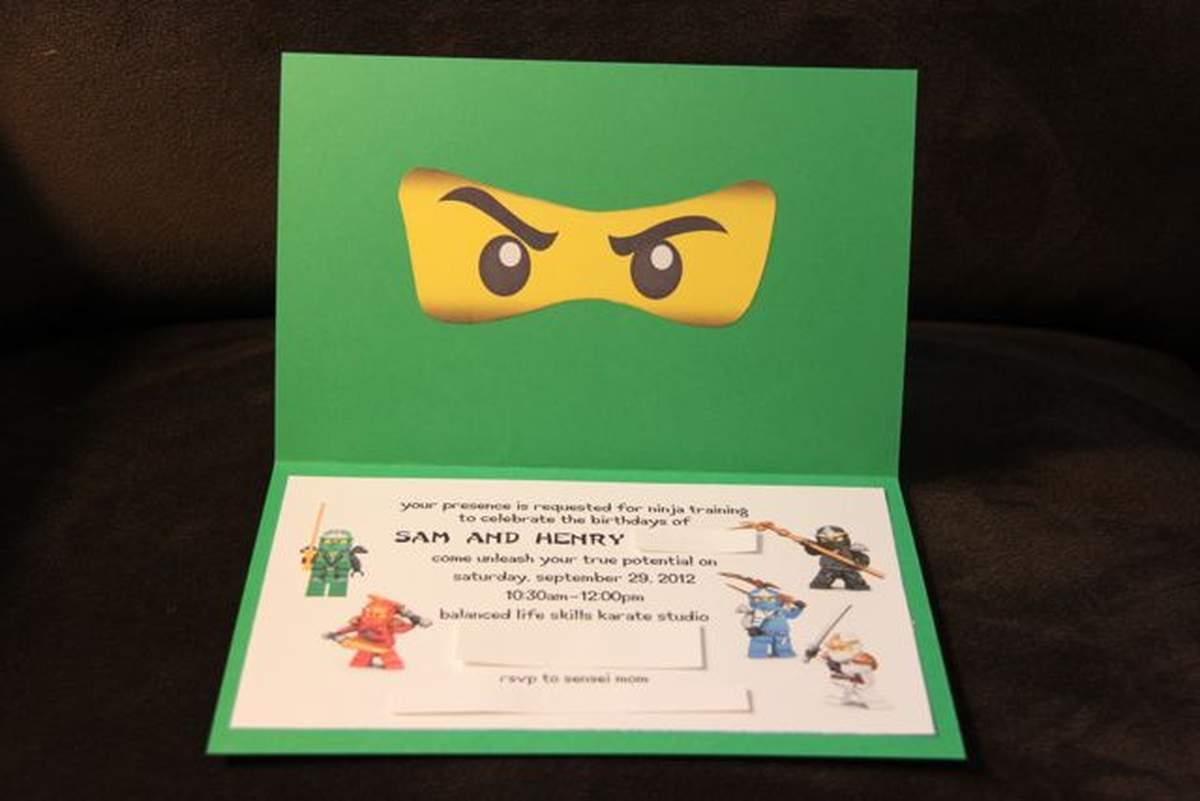 lego ninjago ninja birthday party