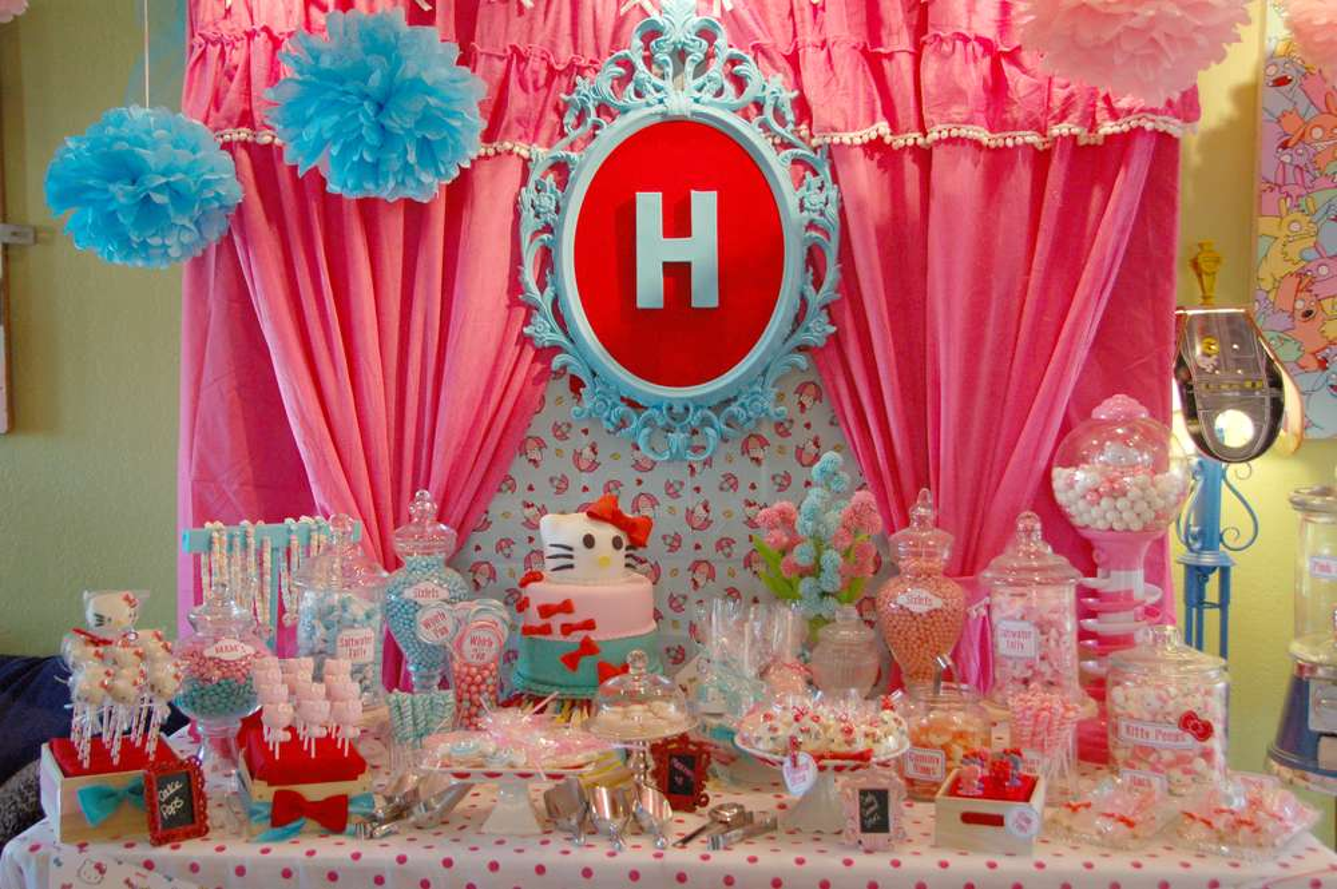 Hello Kitty Birthday Party Ideas Photo 6 Of 70 Catch