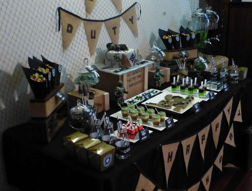 of duty black ops birthday party ideas