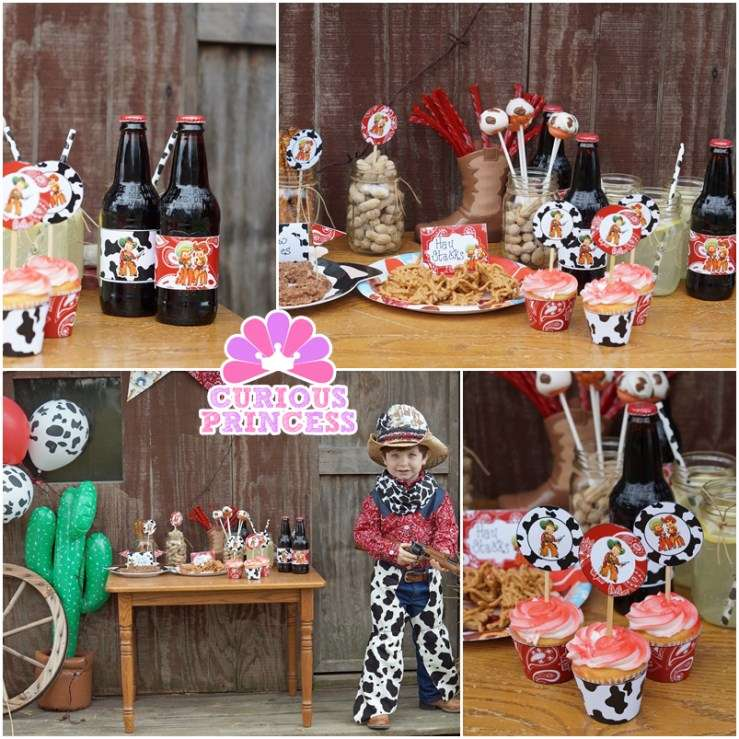 Red Vintage Cowboy Birthday Party Ideas Photo 5 Of 9