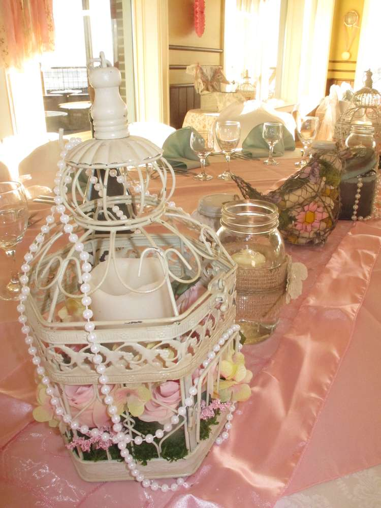 Vintage Shabby Chic Garden Delight Baptism Party Ideas Photo 7 Of 21 Catch My Party