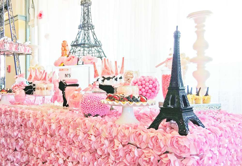 French / Parisian Bridal/Wedding Shower Party Ideas
