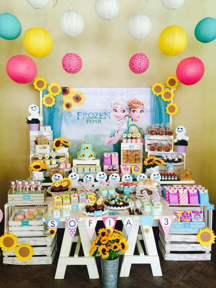 FROZEN FEVER Birthday Party Ideas Photo 3 Of 29 Catch