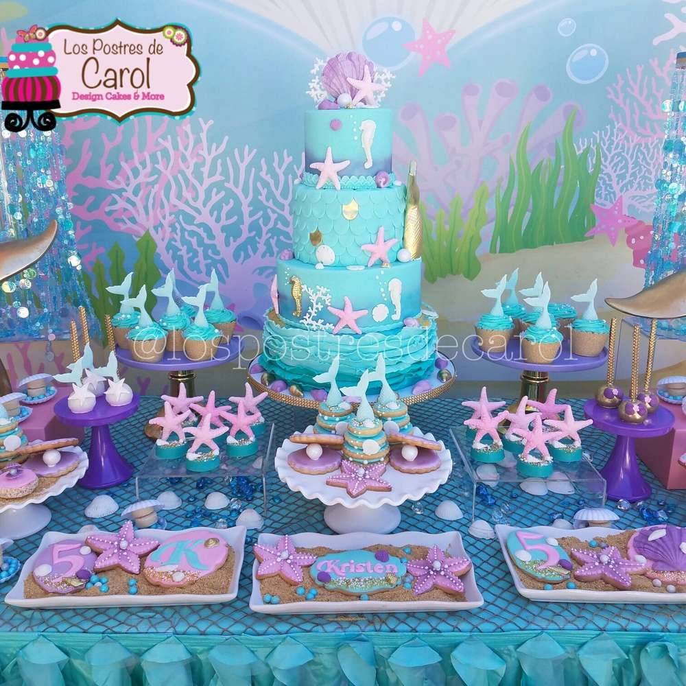 Mermaids Birthday Party Ideas Photo 1 Of 7 Catch My Party