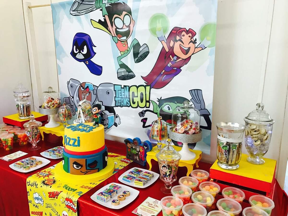 Teens Titans Go Birthday Party Ideas Photo 5 Of 5