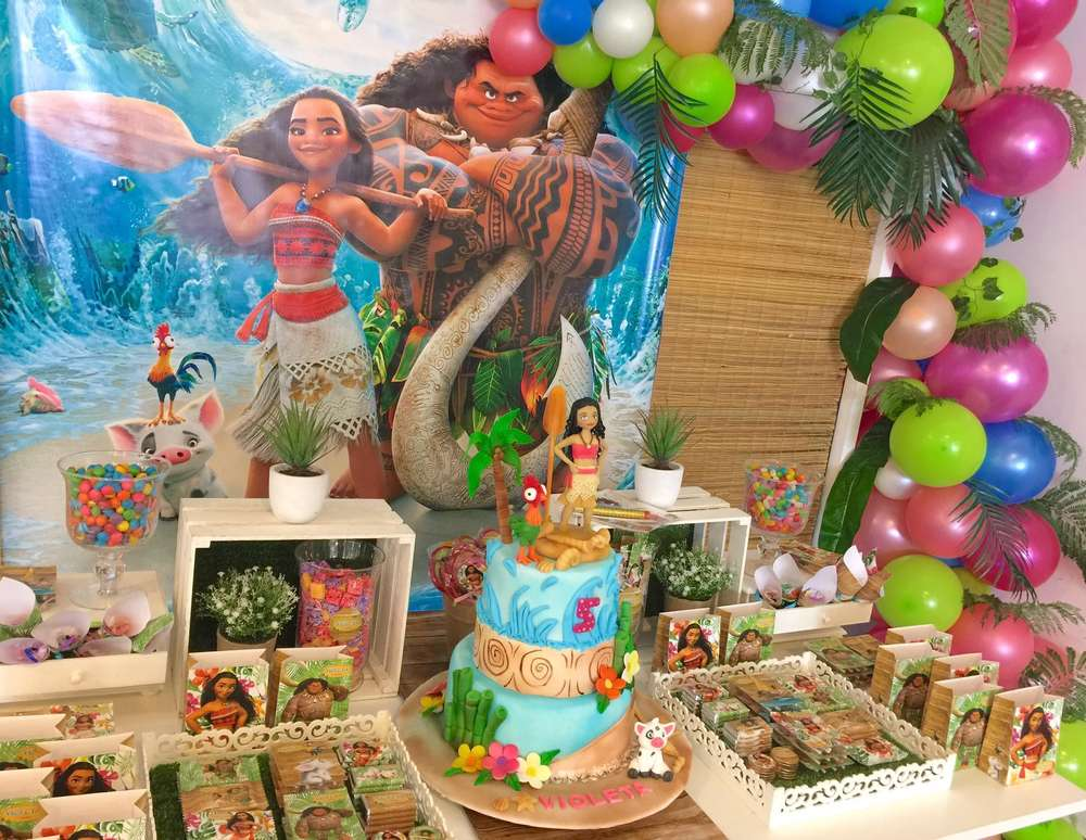 Moana And Maui Birthday Party Ideas Photo 1 Of 18