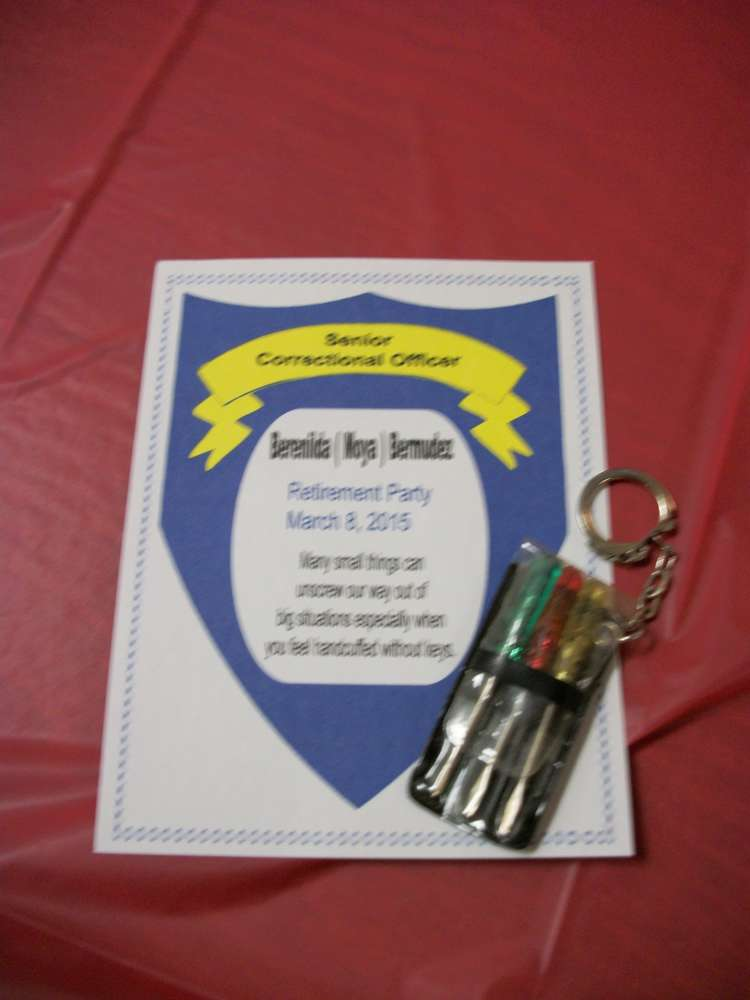 Correctional Officer Retirement Party Ideas Photo 4 Of 9