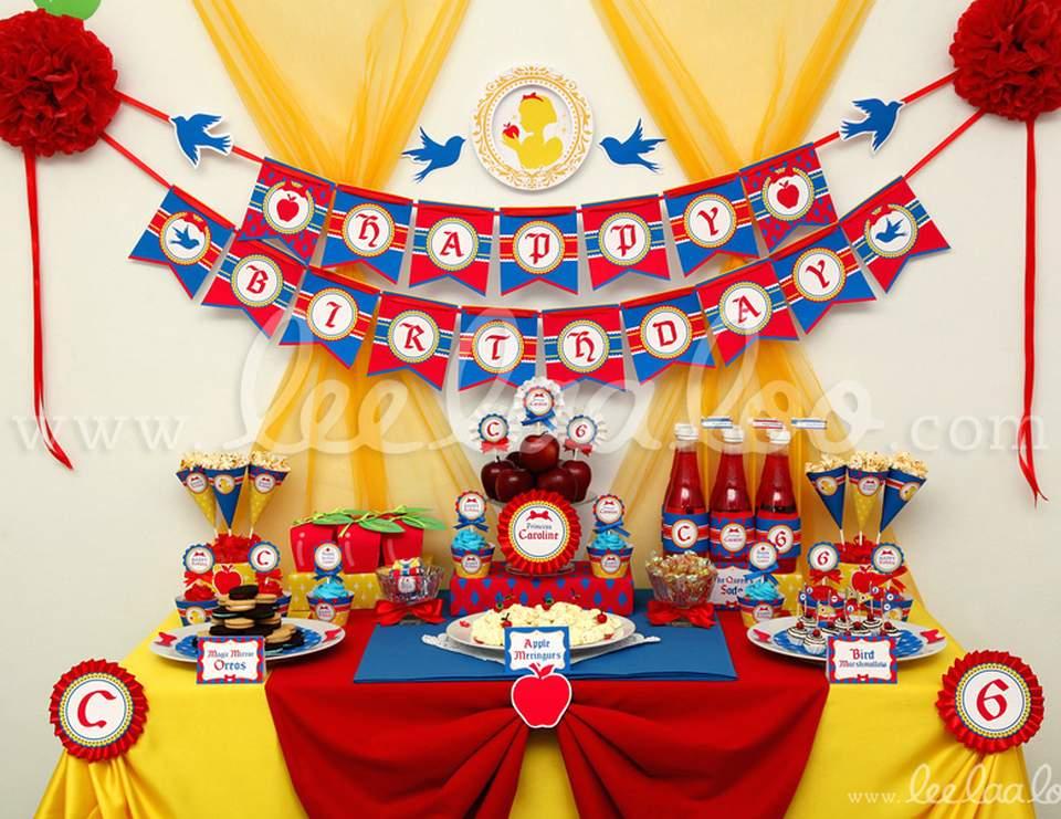 birthday snow white princess birthday