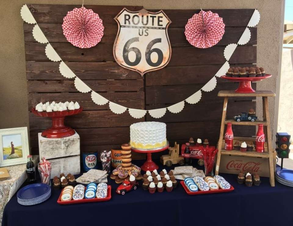 Route 66 Baby Shower Invitations