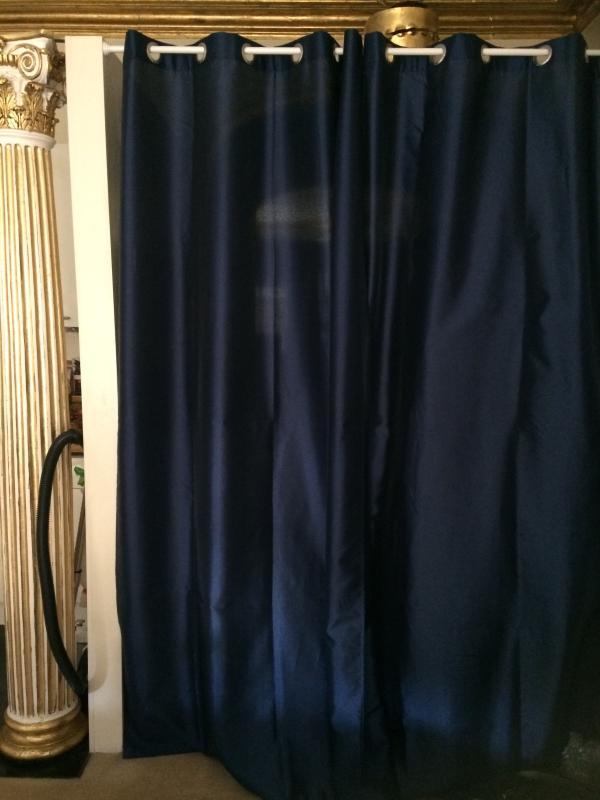 rideau colours calanca bleu 140 x 240 cm