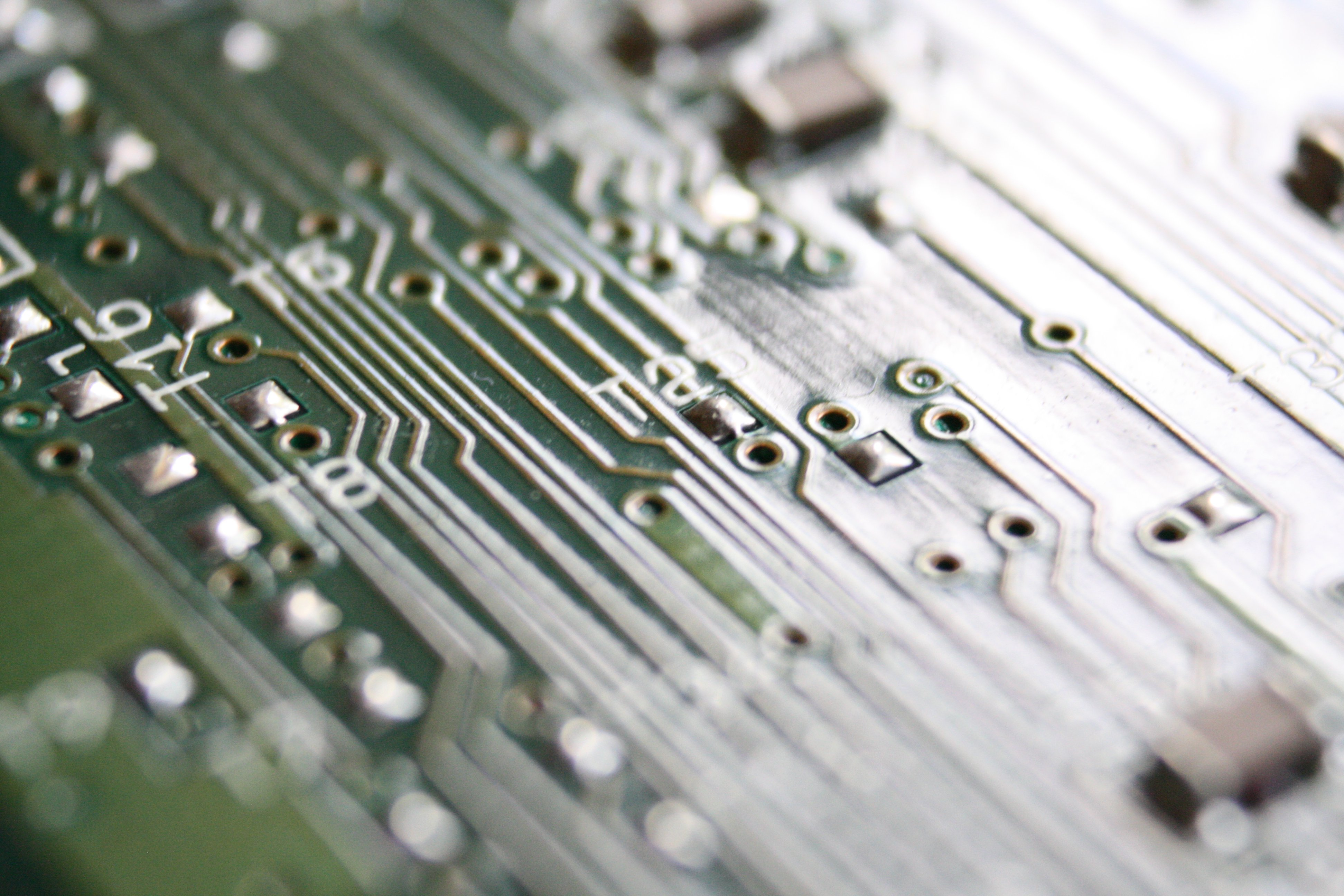 Integrated Circuit Board Close Up Picture