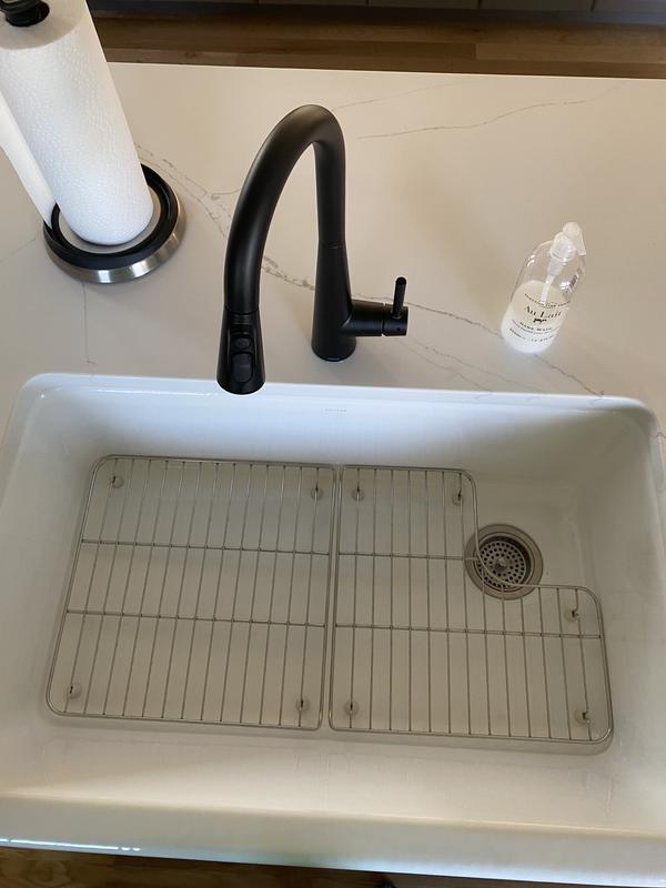 whitehaven undermount single bowl farmhouse kitchen sink with tall apron