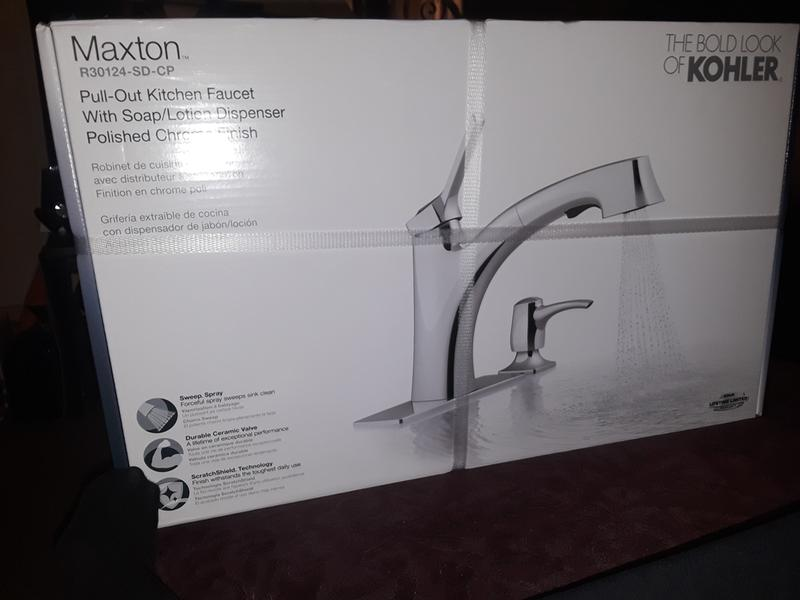 maxton pull out kitchen faucet with soap lotion dispenser