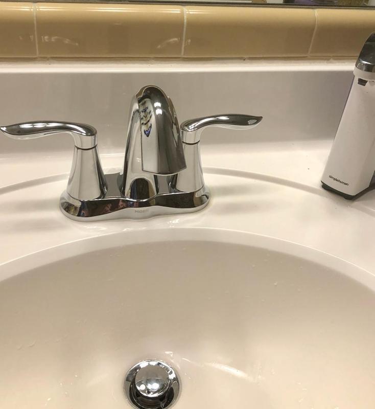 moen bathroom sink faucet handle hard