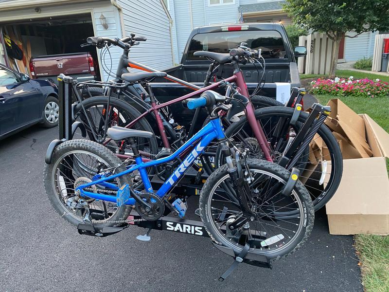 superclamp ex 4 bike hitch car rack saris