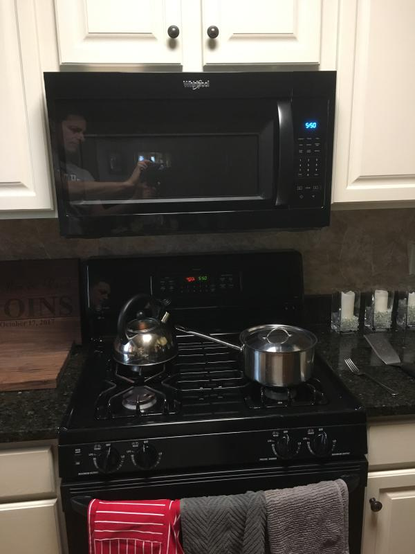 small appliances stainless over the