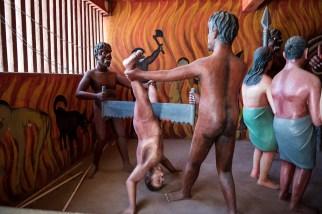 Höllendarstellung im Wewrukannala Buduraja Mahaviharaya
