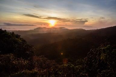 Sonnenaufgang an den Horton Plains