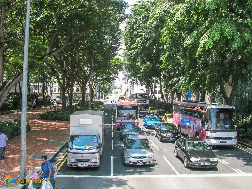 Clean Singapore street
