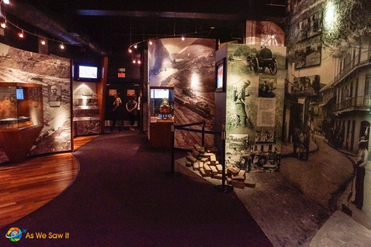 inside the panama canal museum's ground floor