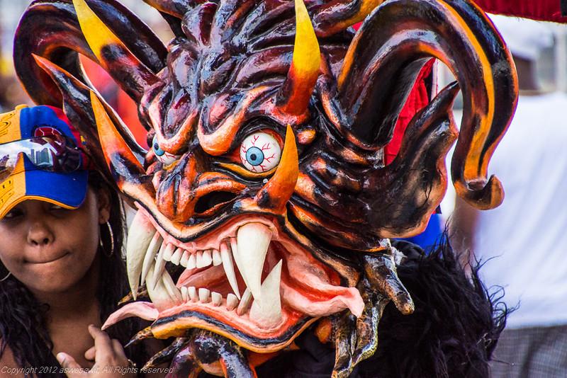 Mask of Panama Carnival devil