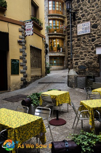 Medieval street Andorra la Vella