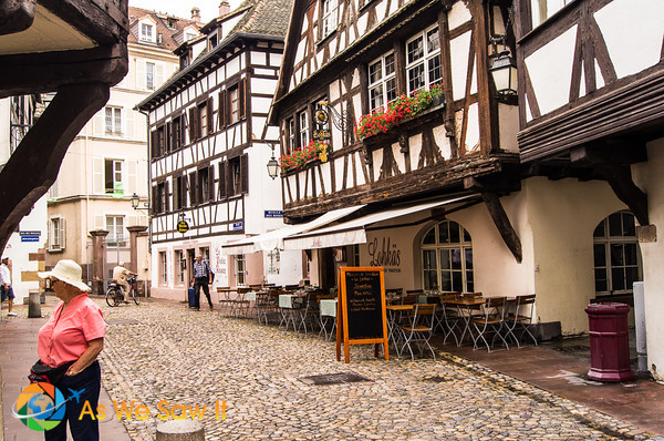 Strasbourg's medieval center has many half-timbered houses.