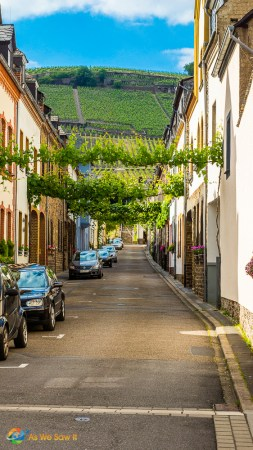 A pretty street in Germany's Mosel wine region