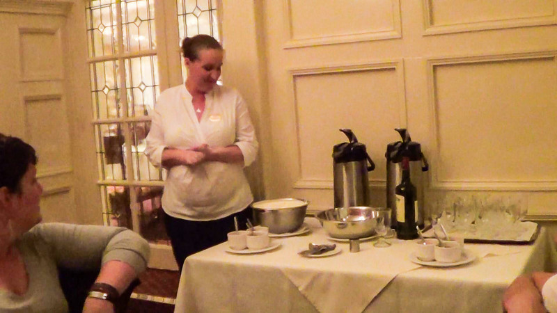 Showing what goes into a Jameson Irish coffee